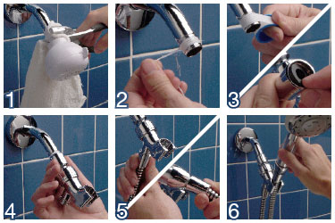 shower head replacement and installation