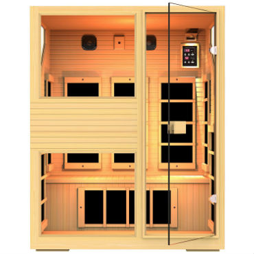 3 person infrared sauna for home