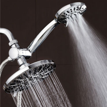 double shower head system
