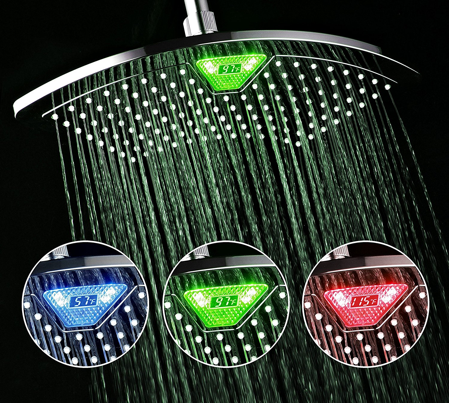 how led shower heads work