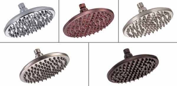 shower head finishes