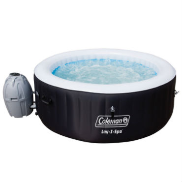small inflatable hot tub