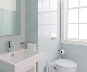 soft colors in the bathroom